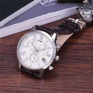 Image 5 - Relogio Masculino CASIMA קוורץ שעון גברים למעלה מותג יוקרה שעון יד Mens לוח שנה שעון עור עסקי שעות Montre Homme