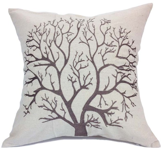 decorative linen cushion cover square embroidered cushion covers