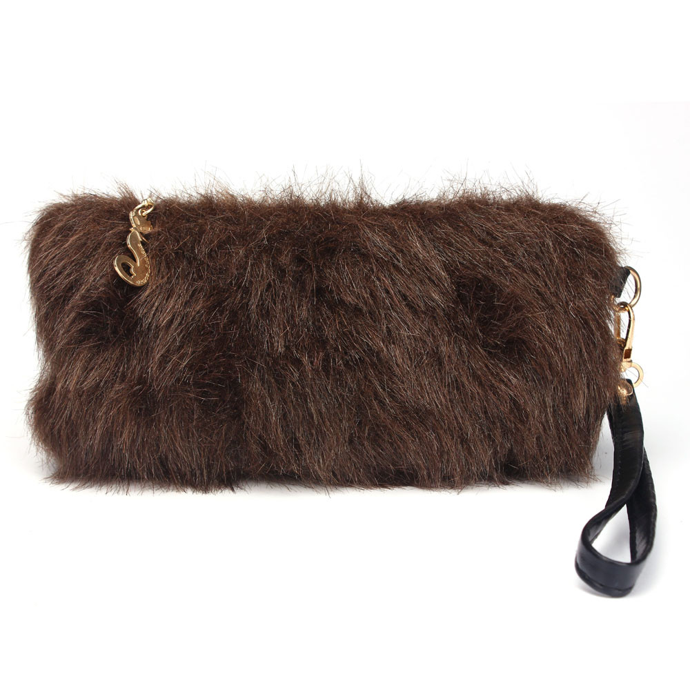 New Style Women Wallet Fashion Girls Winter Warm Wallet Card Pack Small Hairy Bag Handbag Women's Purse Ladies High Quality  hot sale 2016 new fashion women girls winter warm wallet high quality tote bag card pack small hairy bag handbag