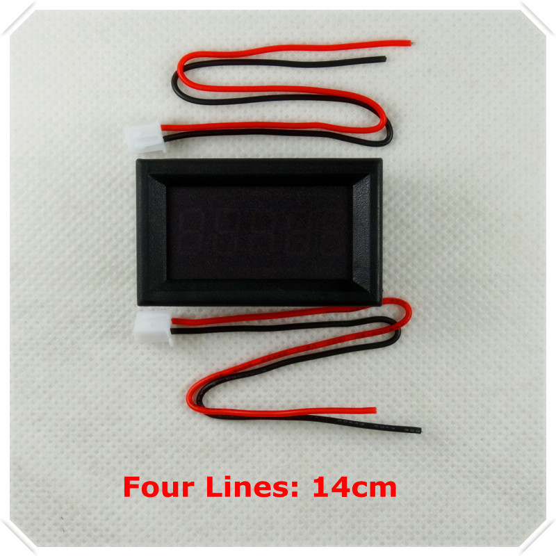 """RD 4 провода 0,3"""" точность переменной постоянного тока 0-33 в цифровой вольтметр напряжение Панель метр светодиодный дисплей Цвет [4 шт./лот]"""