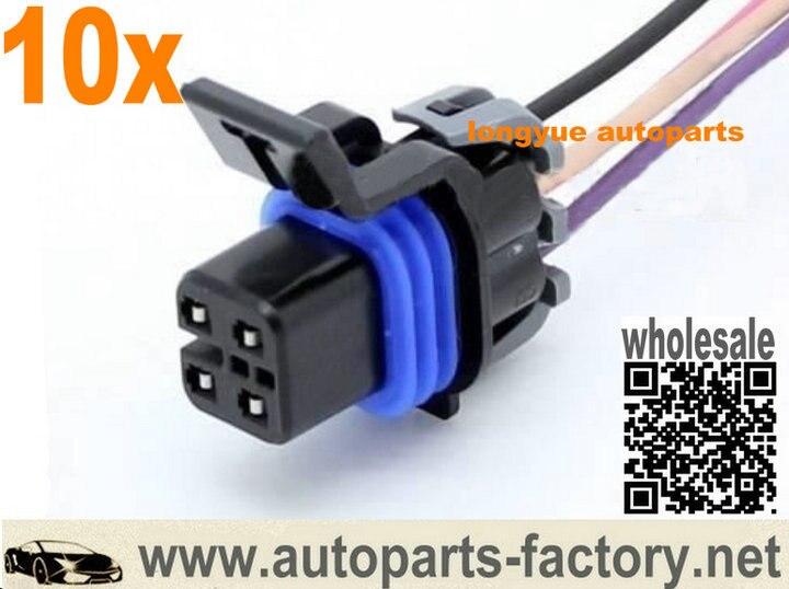longyue 10pcs 4 way LS1 OXYGEN O2 SENSOR CONNECTOR PIGTAIL Fuel Pump