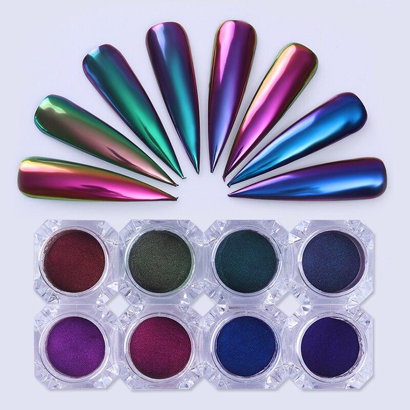 Chameleon Mirror Nail Glitters Powder 0.5g Chrome Pigment