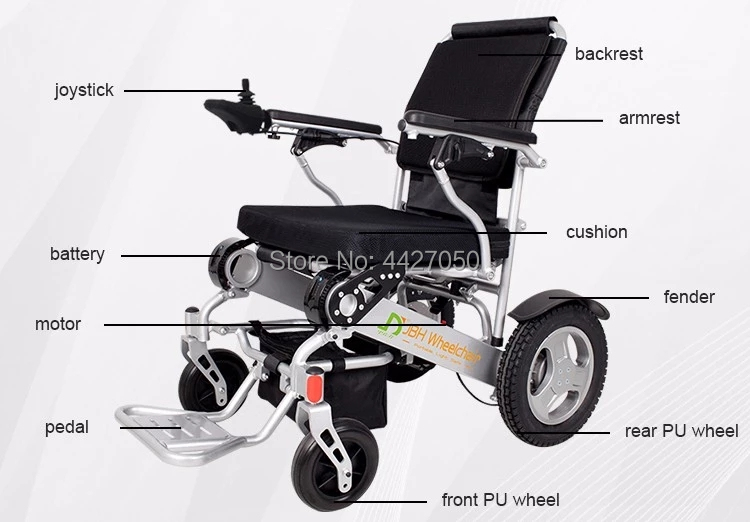 Free shipping 6 colors foldable electric large loading 180kg power electric wheelchair for disabled people 2