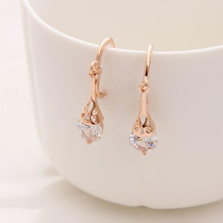 Hesiod Österreichischen Kristall Ohrringe Für Frauen Gold Farbe Strass Braut Hochzeit Ohrring Großhandel Ohrringe Modeschmuck Fabriken Und Minen