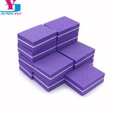 Фиолетовый 10 X шлифовальных пилок для ногтей, аксессуары для ногтей, мини-буфер для ногтей, профессиональная губка, пилка для ногтей, блок, маникюрный набор