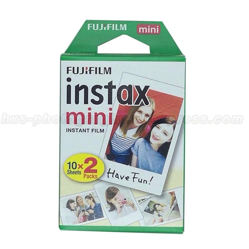Galleria fotografica Twin Pack Fujifilm Instax Mini Film Fuji White Edge Photo Paper For Mini 9 8 50 7s 90 25 Instant Cameras Share SP-1 SP-2 Printer