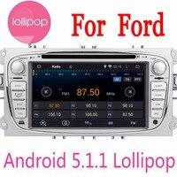 Двухместный 2 DIN в тире Android 5.1.1 dvd плеер автомобиля для Ford/Mondeo/фокус с Wi Fi GPS навигации радио fm рулевого колеса canbus