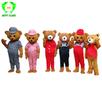 Adult Teddy Bear Mascot Costume Cartoon Character Costumes Adult Mascot Cosplay Bear Costume Fancy Dress Party Teddy Bear Suits