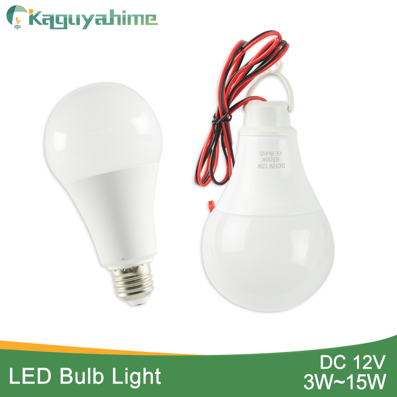 Kaguyhime Clip/E27 LED Bulb DC 12V/AC 220V Portable Ring Hang Light Lamp 3W 7W 9W 12W 15W  For Outdoor Camping Fishing Emergency
