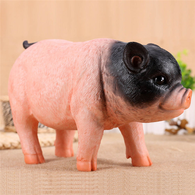 Children Piggy Bank Large Capacity Tricolor Piglet Resin Coin Collection Toy Creative Simulation Resin Pig Kids Money StorageBox