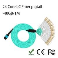 24 основных MPO 24 core LC 1 м многомодовый 40 ГБ LC косичку Волокно оптические косу