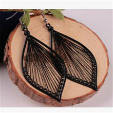 New Fashion Style Leaves Earrings For Women Handmade Black Color Dangle Summer Jewelry Gifts Wholesale
