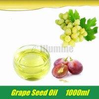 חומר גלם סבון בעבודת יד שמן זרעי ענבים חיוני טבעי אורגני זרעי ענבים לחץ קר ארומתרפיה לחות 1000 ml