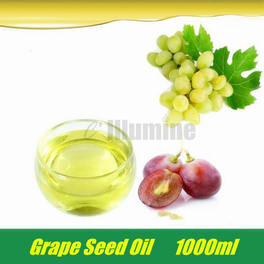 Handmade Soap Raw Material Natural Grapeseed Essential Oil Organic Cold Pressure Grape Seed Aromatherapy moisturizing 1000ml coconut oil extract cold pressed natural healthy oil for aromatherapy hair