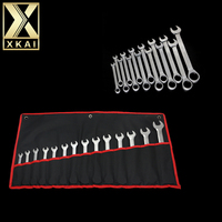 XKAI 14PC Ratchet Spanner 8mm 24mm Gear ring Wrench combination wrench set