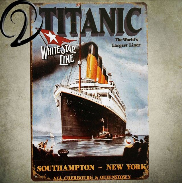 Titanic White Star Line The World\'s Largest Liner Letter Vintage ...