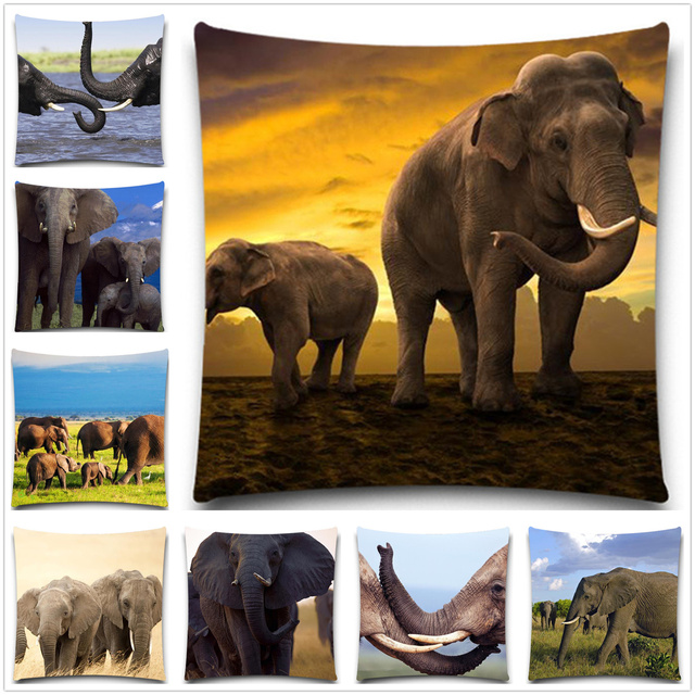 Us 8 6 5 Size Personalized Elephant Chair Pillow Case Modern Minimalist Pillow Covers Artistic Colorful Pillow Cover For Sofa In Cushion Cover From