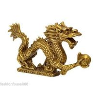 Chinese tibet brass Dragon figurine Statue Decoration copper wholesale Decoration real Brass