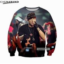 Última moda camiseta Rapper Singer Eminem hoodie hombres mujeres 3D  impresión sudaderas manga larga estilo hip hop streetwear to. 8cb408dbaac