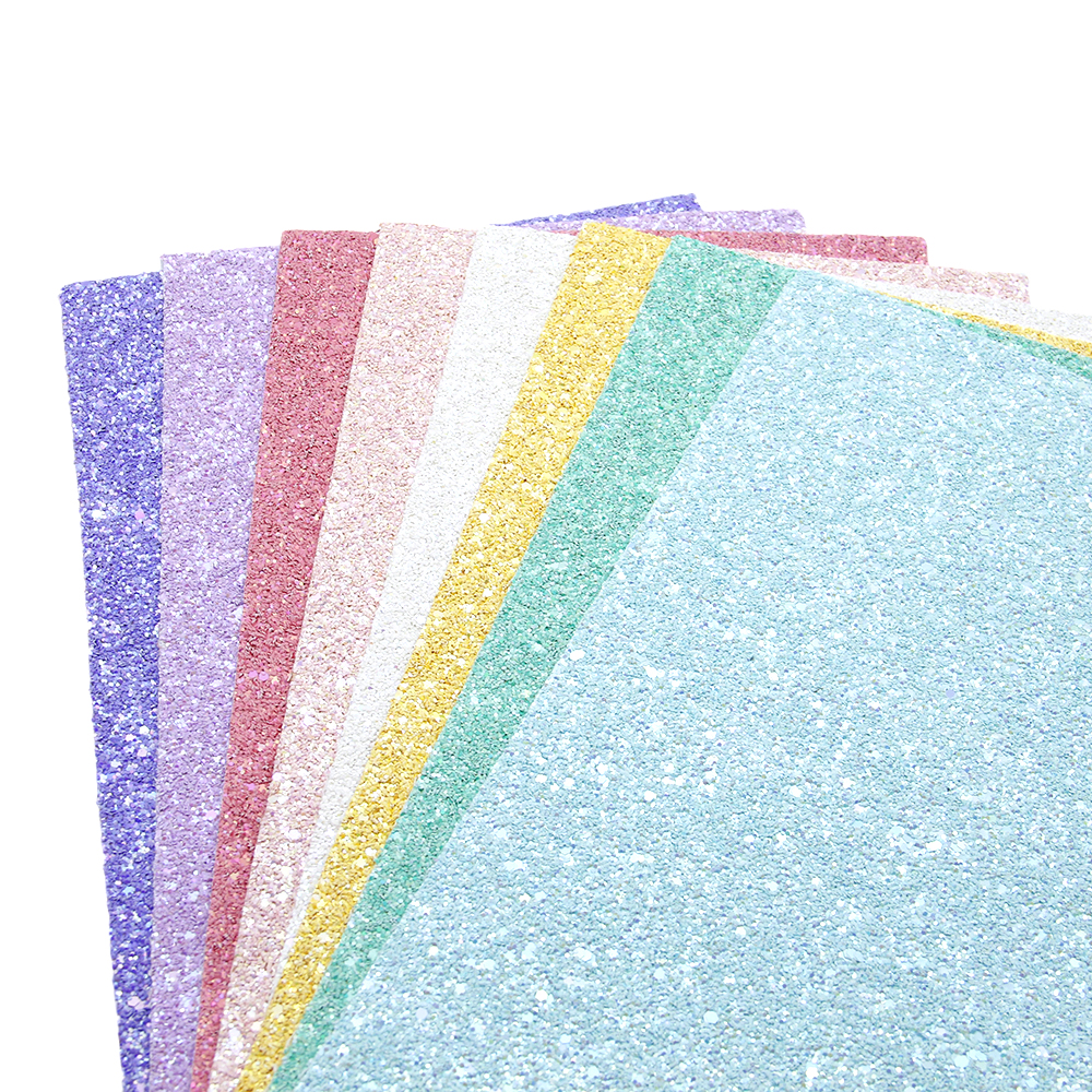 David Accessories 8pcs/set 20*34cm Glitter Faux Synthetic Leather Fabric For Bows DIY Handbag Shoes Craft Material,1Yc6210