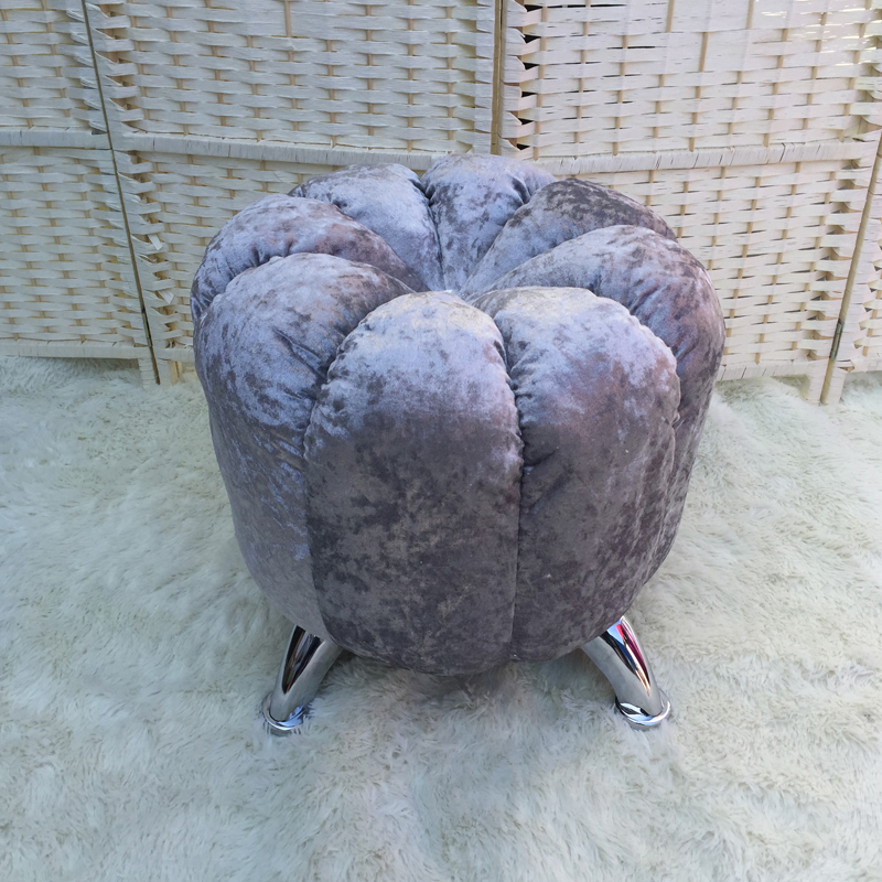 High Quality Modern Fashion Shoes Stool Chair Sofa Outdoor Home Upholstered Stool Ottoman Comfortable Round Pouffe Footstool