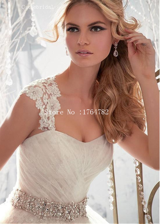 Famous Designer Beaded Sash Lace Organza Princess Wedding Dresses Detachable Strap Strapless Y Bride Marrige Dress With Bow In From