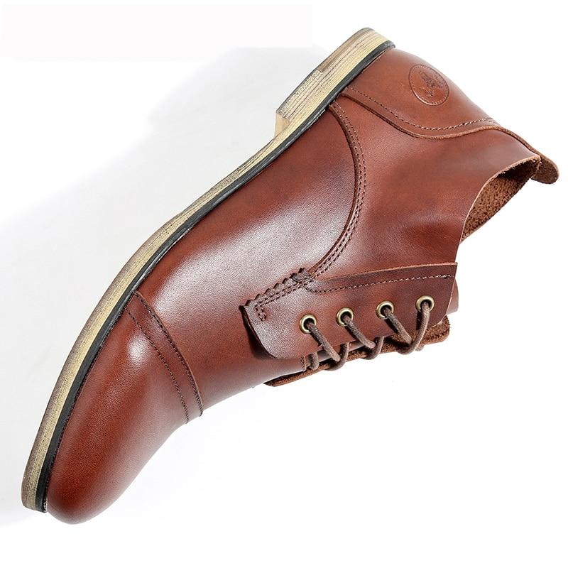 Hommes D'hiver Pour Erkek 2019 Chaudes Mode red Cheville Décontractées Mycolen Wine D'affaires Bot Brun Brown Chaussures Bottes Nwnv80m