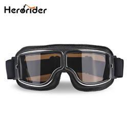 Herorider универсальные винтажные мотоциклетные очки Пилот Авиатор Мотоцикл Скутер байкер очки шлем очки складные для Harley