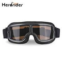 Herorider Universal Vintage Motorrad Brille Motorrad Roller Biker Brille Helm Goggles Faltbare