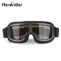 Herorider Universal Vintage motocicleta gafas moto Scooter gafas de motociclista casco gafas plegables|motorcycle goggles|helmet goggles|vintage motorcycle goggles -
