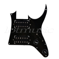 Electric Guitar Prewired Loaded Pickguard Scratch Plate For Ibanez GRGM21 HH Replacement Parts Humbucker 3Ply White Black