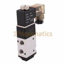 1/8 ''AC220V 2 позиционный 3-ходовой электрические пневматические Мощность Управление электромагнитный клапан 3V110-06 DIN, DC12V, DC24V или AC110V