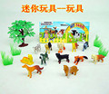 Детские Развивающие Игрушки Играть Дома Игрушки Собаки 12pcs2 Дюйма, 1 Дерево, 4 Трава, моделирование Мини Домашних Собак