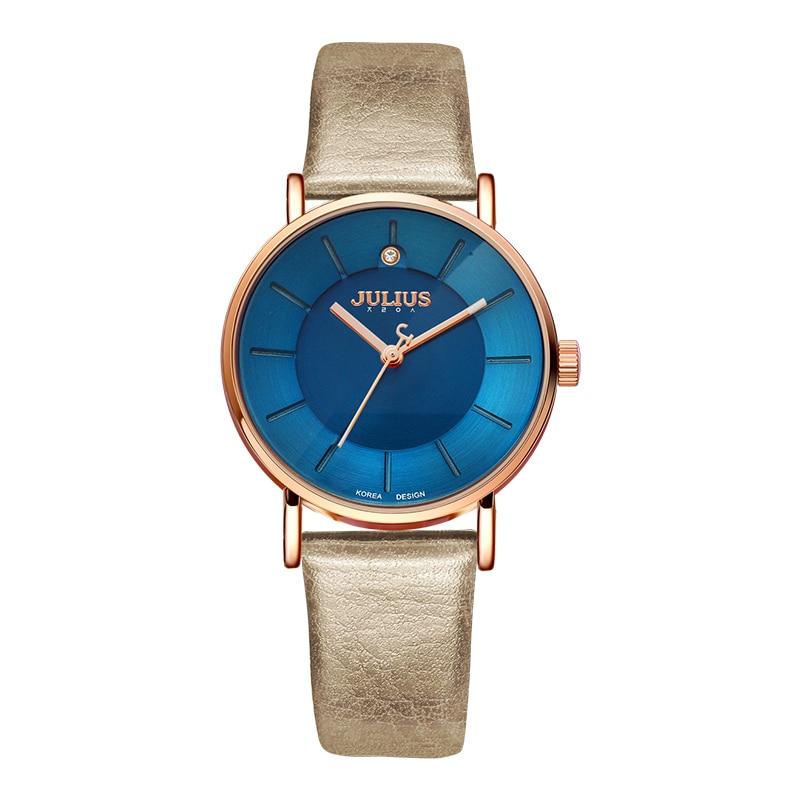 프로모션 줄리어스 시계 패션 비즈니스 여성 가죽 스트랩 일본 석영 movt 원래 디자이너 시계 relogio relojes JA 921-에서여성용 시계부터 시계 의  그룹 1