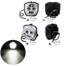 4pcs Chrome LED Headlight ATV UTV Projector Lights For Yamaha Utility YXZ1000  YXZ1000R  EPS SS Special Edition 2016-2017 цена