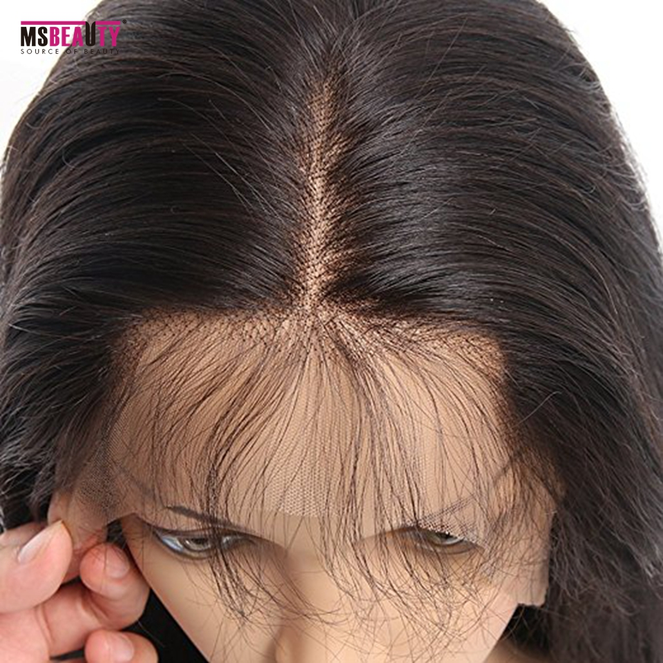 Msbeauty 180% Density Pre Plucked 360 Lace Frontal Human