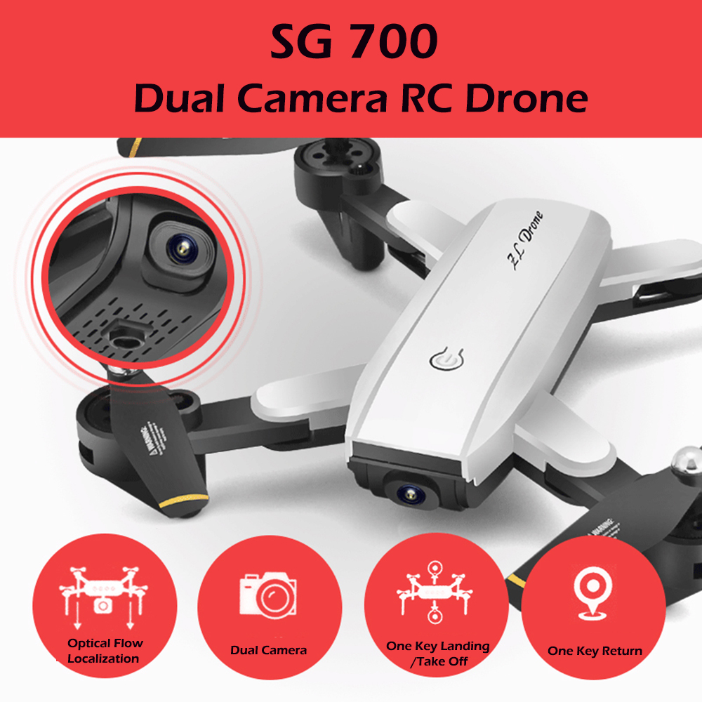 SG700 RC Drone Foldable Drone With Camera HD Altitude Hold RC Pocket Dron VS Eachine E58 YH-19HW Visuo XS809HW JD-20