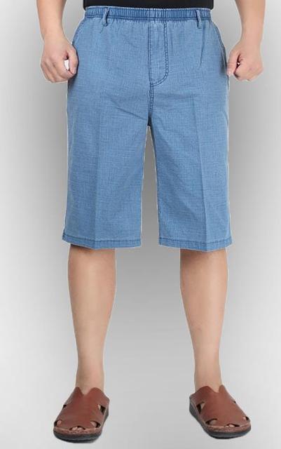 Hombre verano más tamaño Recto de lino capris masculinos delgada de gran tamaño suelta de algodón pantalones de los hombres pantalones de cintura Elástica