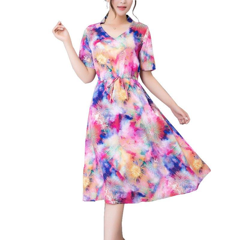 2017 moda nuevo de las mujeres vestidos de verano más tamaño vestidos con cuello