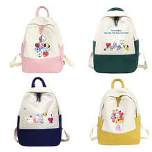 New cartoon surrounding cute outdoor travel bags for men and women students backpack Korean