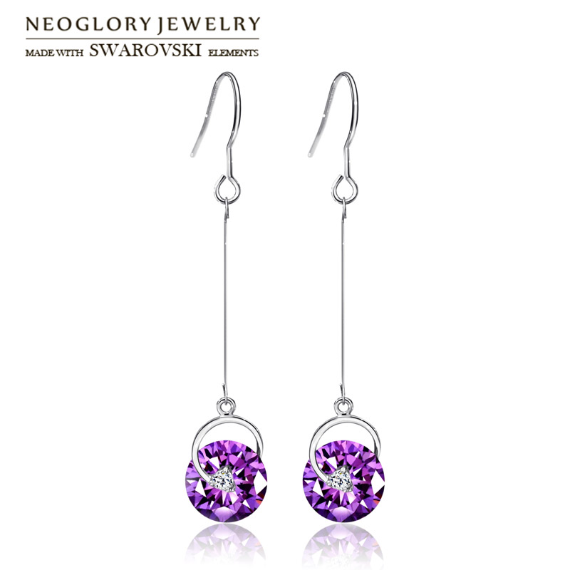 Neoglory Österrike Crystal & Rhinestone Drop örhängen Långa - Märkessmycken - Foto 4