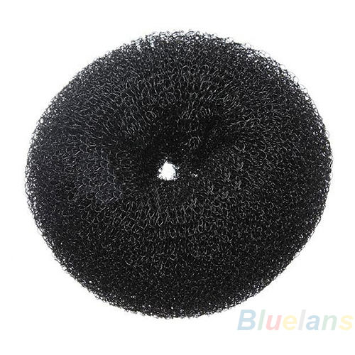 Hair Donut Bun Ring Shaper Roller Styler Maker Brown Black Blonde Hairdressing S M Elastic Round Nylon Wire BGVN
