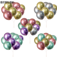 BTRUDI Metallic Latex Balloons 10pcs 12inch Thick Pearly Metal Chrome Alloy Colors Photograph Wedding Party Decoration