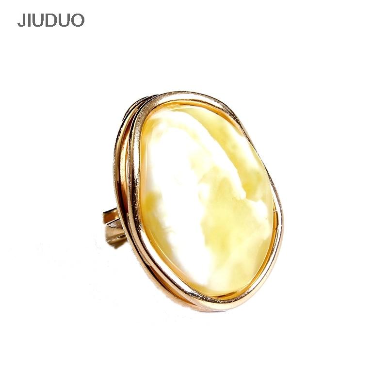 Natív Amber Ring Phnom Penh Ovális arany gyűrű a - Finom ékszerek