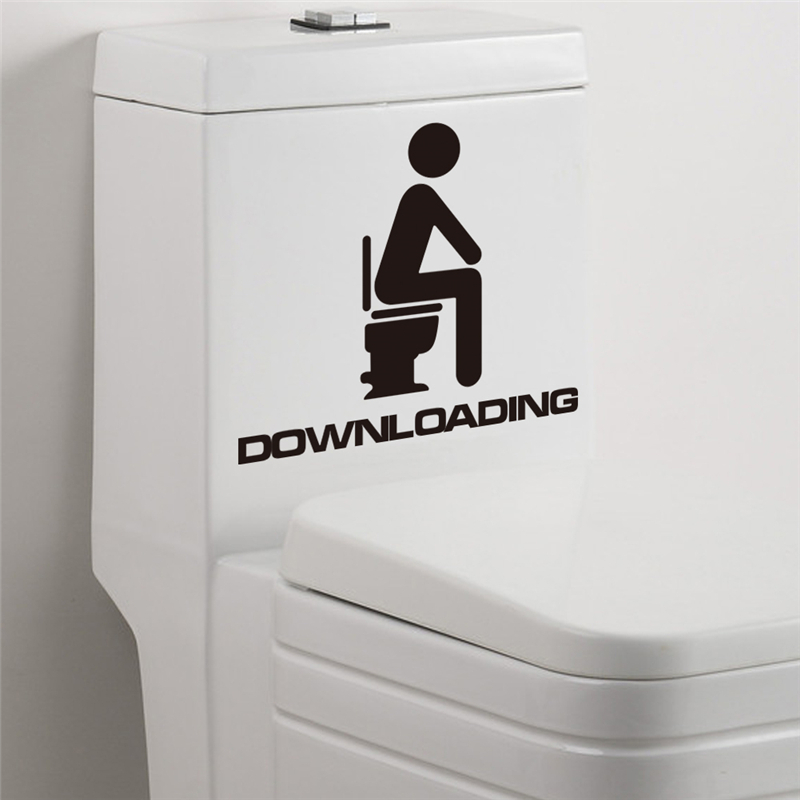 ჱdownloading Toilet Stickers Waterproof Bathroom Wall Decals Home