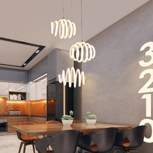 цены restaurant lighting led lamp modern dining ceiling simple creative 3 heads pendant light