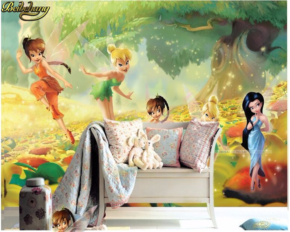 Beibehang Children's Room Bedroom Living Room Sofa Wallpaper For Walls 3 D Wonderful Fairy Papel De Parede 3d Photo Wall Paper