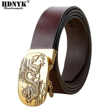 цена на Factory Supply Low Price Dragon Belts Fashion High Quality Men Waist Belt Genuine Leather Belts for Men Match Jeans