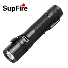 купить LED Flashlight Linterna Supfire A5 Mini Torch Hand Light Lantern USB Laterna for Convoy S2 S3 Nitecore Surefir Bike Light A018 по цене 977.62 рублей