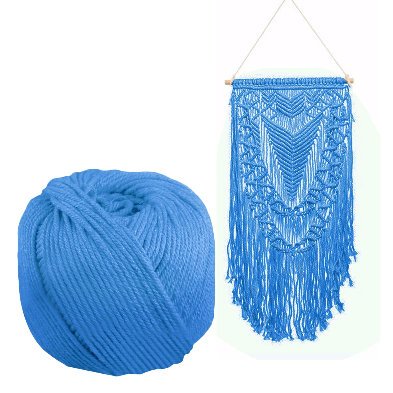 170 m x 4mm tejido de algodón cuerda para DIY Bohemia Macrame grande ... 48c338a2b52